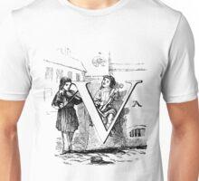 Child Alphabet Letter V Unisex T-Shirt