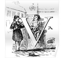 Child Alphabet Letter V Poster