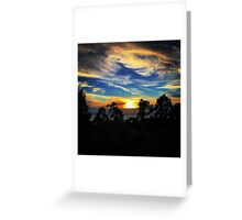 Sunset at Home Greeting Card