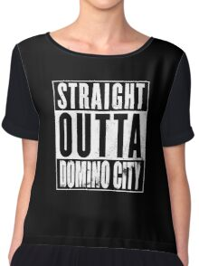Straight Outta Domino City Chiffon Top