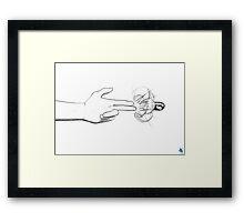 Finger Bang Framed Print