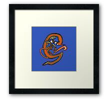Medieval Squirrel letter G Framed Print