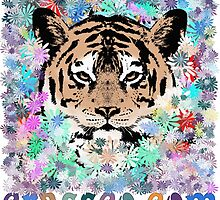 FLOWER TIGER by fuxart