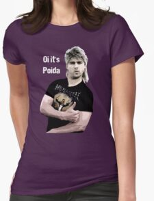 Poida Full Frontal Aussie Funny Shirt Womens Fitted T-Shirt
