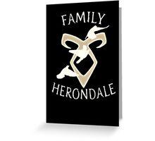 Family Herondale Greeting Card