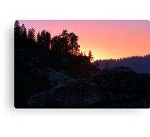 Sierra Nevada Dusk Canvas Print