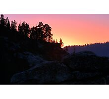 Sierra Nevada Dusk Photographic Print