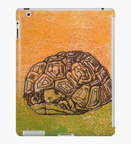 Peek-a-boo tortoise! iPad Case/Skin