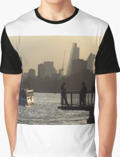 Life By The River Thames, London Graphic T-Shirt