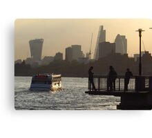 Life By The River Thames, London Canvas Print