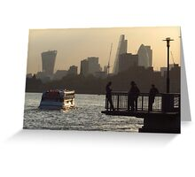 Life By The River Thames, London Greeting Card