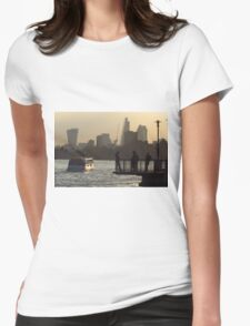 Life By The River Thames, London Womens Fitted T-Shirt
