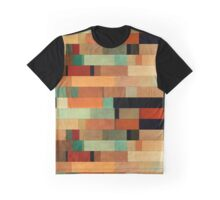 Abstraction #011 Green Red Black Blocks Graphic T-Shirt