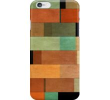 Abstraction #011 Green Red Black Blocks iPhone Case/Skin