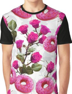 Roses are Pink, Donuts are Delicious Graphic T-Shirt
