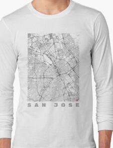 San Jose Map Line Long Sleeve T-Shirt