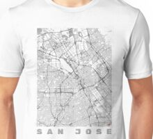 San Jose Map Line Unisex T-Shirt