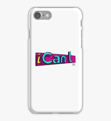 iCan't - iCarly Logo Spoof iPhone Case/Skin