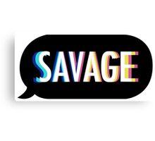 Kim Kimijo Savage Emoji app logo funny slogon design Canvas Print