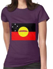 Koori Australian Flag  Womens Fitted T-Shirt