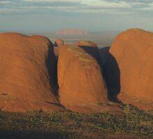 Kata Tjuta & Uluru - From the Air Sticker