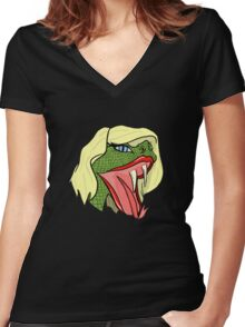 TSnake - Taylor Swift Women's Fitted V-Neck T-Shirt