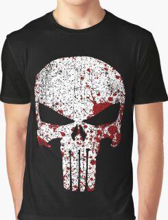 The Punisher Bloody Skull Graphic T-Shirt