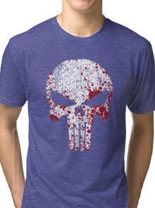 The Punisher Bloody Skull Tri-blend T-Shirt