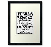 books made me feel Framed Print