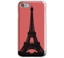Paris Eiffel Tower - Minimalist Design (silhouette) iPhone Case/Skin