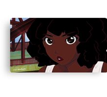 Afro Anime Canvas Print