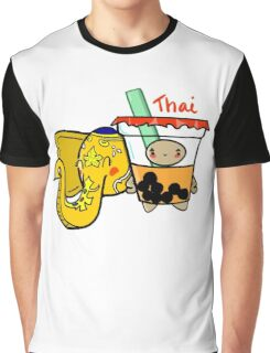 Thai - Boba Kids Graphic T-Shirt