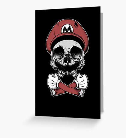 Mario Death Squad Greeting Card