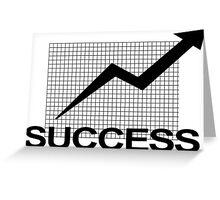 Business Chart Graph Art Greeting Card
