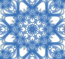 Blue fractal flower pattern by igorsin