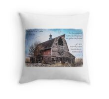 Matthew 6:26 (Old Barn & Birds) Throw Pillow