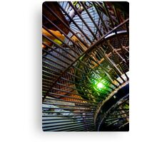 metal spiral cage Canvas Print