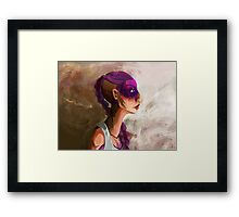 Before the pain hits Framed Print