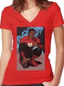 Kop Lantern Women's Fitted V-Neck T-Shirt