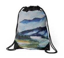 East Meets West 2 Drawstring Bag