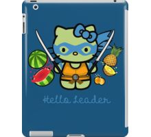 Hello Ninja Turtle Leader iPad Case/Skin