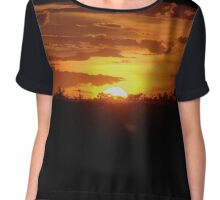 Brazilian Sunset Chiffon Top