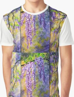 Wisteria Blooming - Triptych Graphic T-Shirt
