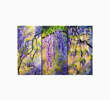 Wisteria Blooming - Triptych Womens Fitted T-Shirt