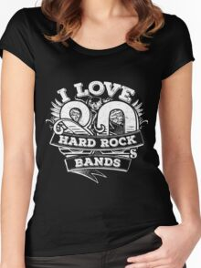 I love 80s Hard Rock Bands Women's Fitted Scoop T-Shirt