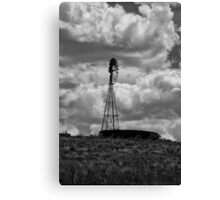 Water Tank And Windmill  Canvas Print