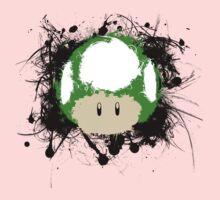 Abstract Paint Splatter 1up Mushroom Kids Clothes