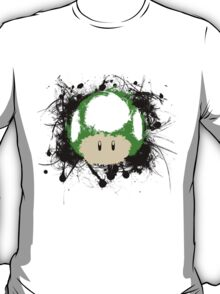 Abstract Paint Splatter 1up Mushroom T-Shirt