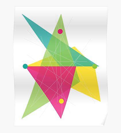 Abstract Diamond Poster