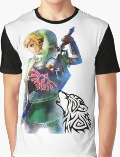 Zelda Link with Wolf Graphic T-Shirt